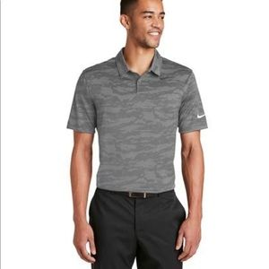 NEW! Nike Golf Dri-Fit Camo Jacquard Polo Shirt